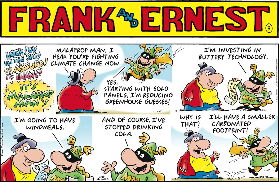 Frank and Ernest Comic Strip for February 23, 2020