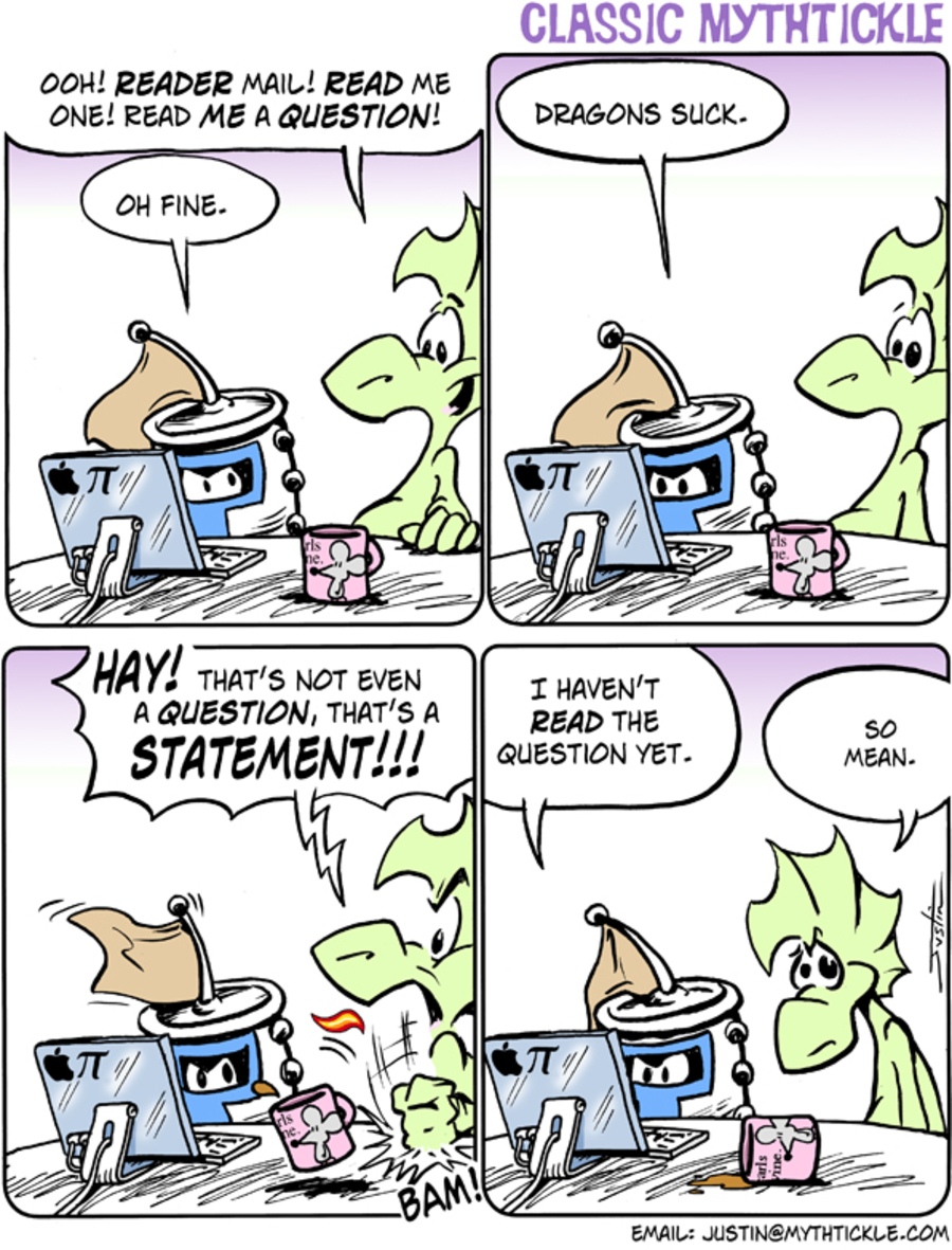 MythTickle for Oct 8, 2012 Comic Strip