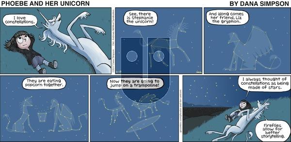 Phoebe and Her Unicorn on Sunday November 19, 2017 Comic Strip