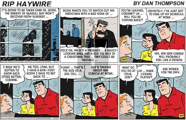 Rip Haywire on Sunday March 22, 2020 Comic Strip