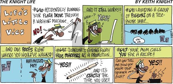 The Knight Life on Sunday January 13, 2013 Comic Strip