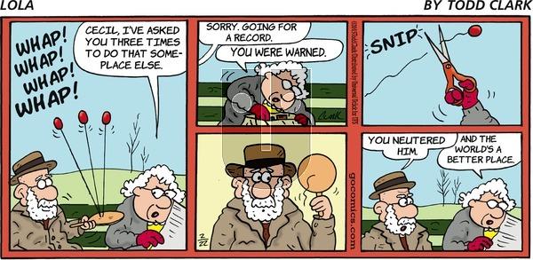 Lola on Sunday February 22, 2015 Comic Strip