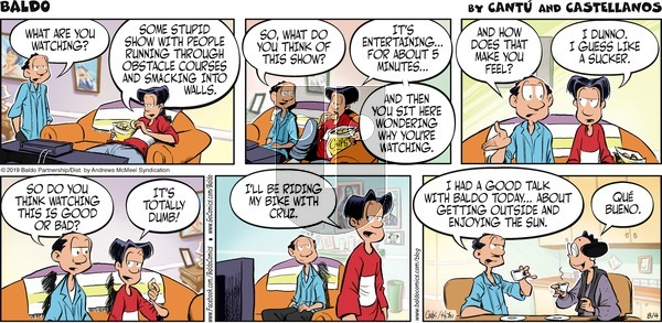 Baldo on Sunday August 4, 2019 Comic Strip