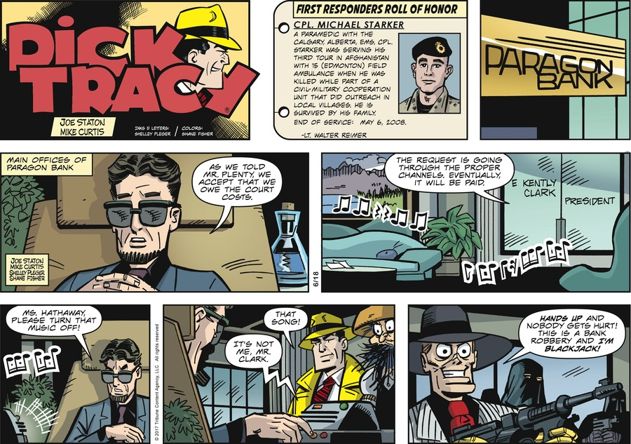 Dick Tracy Comic Strip for June 18, 2017