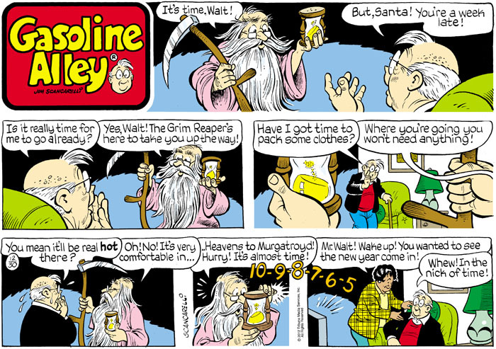 Gasoline Alley for Dec 30, 2012 Comic Strip