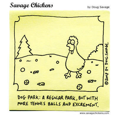 Savage Chickens Comic Strip for July 31, 2012