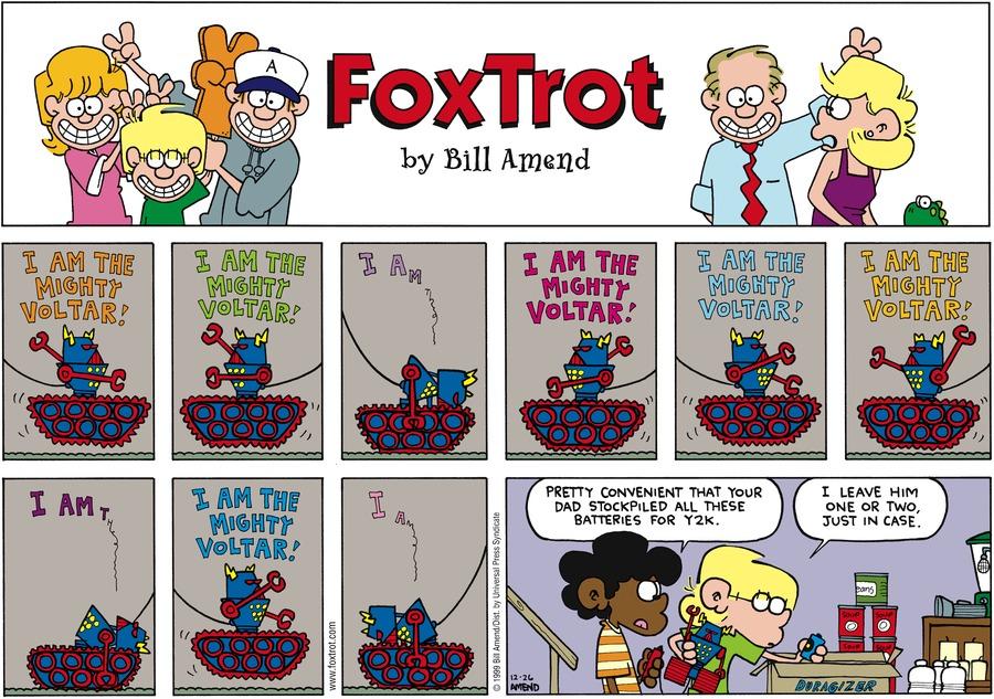 FoxTrot Comic Strip for December 26, 1999