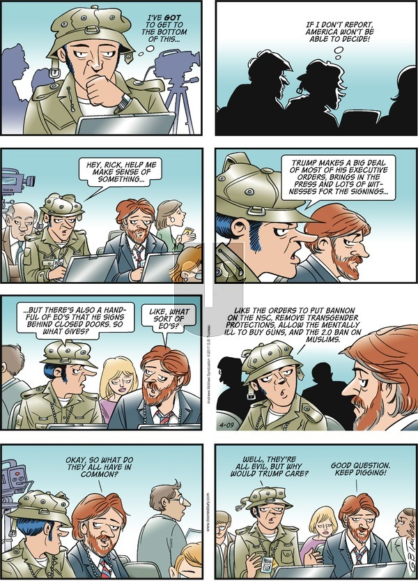 Doonesbury on Sunday April 9, 2017 Comic Strip