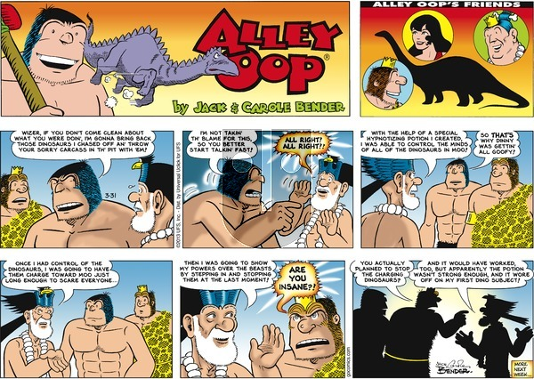 Alley Oop on Sunday March 31, 2013 Comic Strip