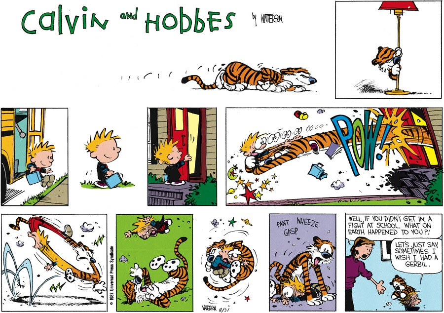 Calvin and Hobbes Comic Strip for October 11, 1987