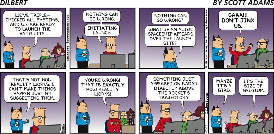 Satellite Launch - Dilbert by Scott Adams