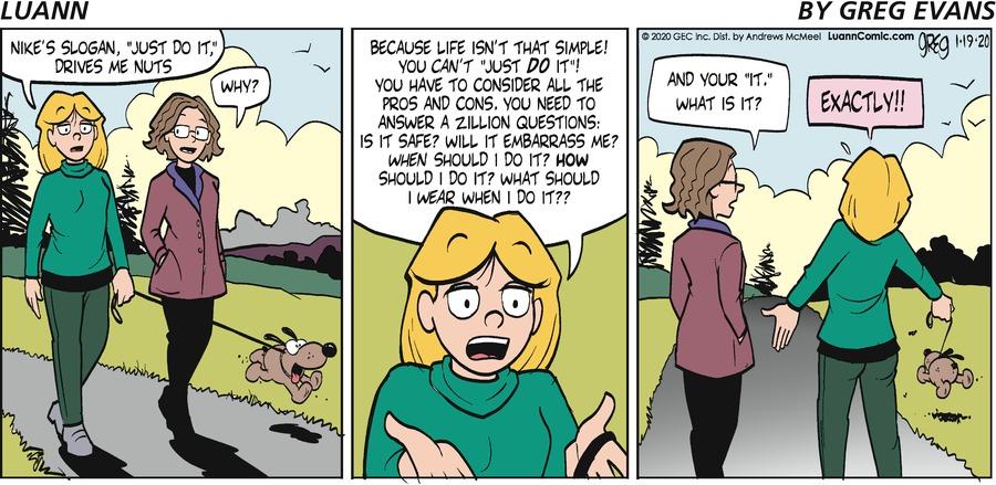 Luann Comic Strip for January 19, 2020