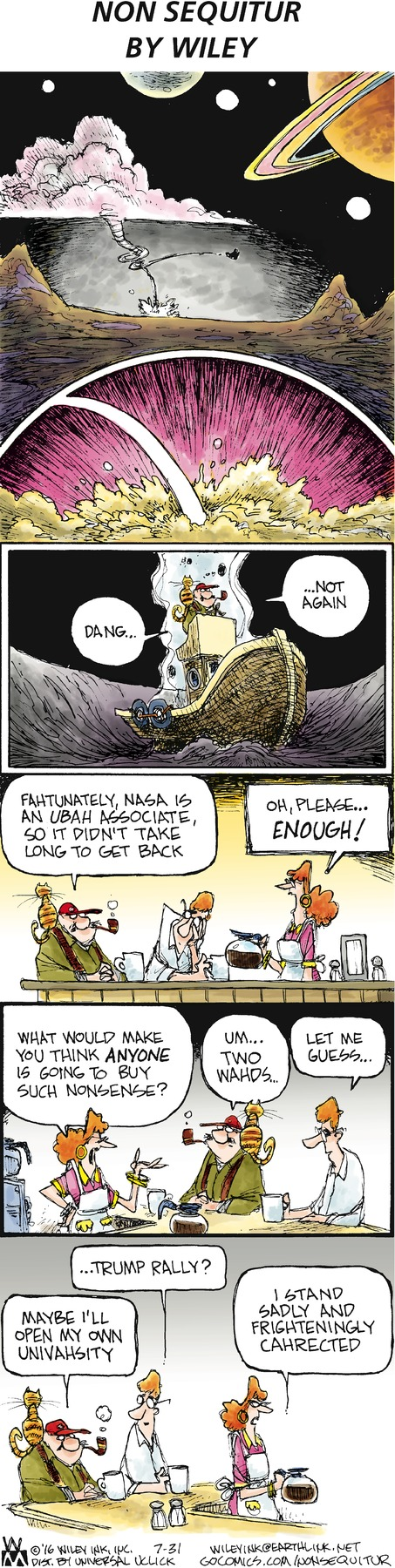 Non Sequitur Comic Strip for July 31, 2016