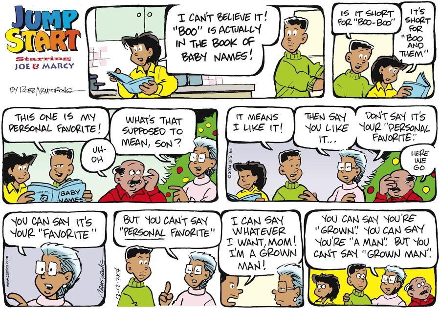 JumpStart Comic Strip for December 12, 2004
