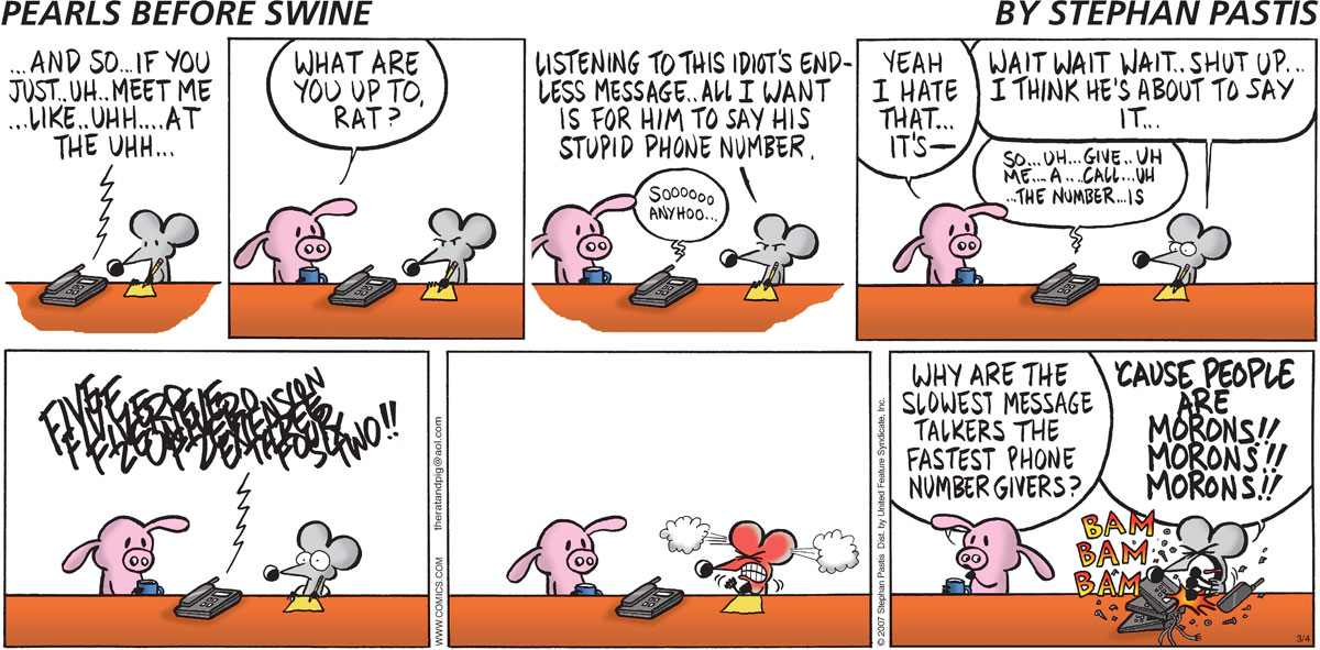 Pearls Before Swine Comic Strip for March 04, 2007