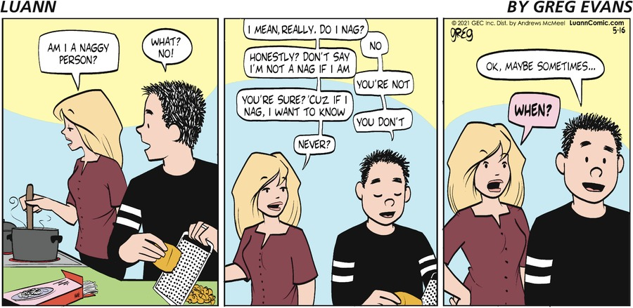 Luann Comic Strip for May 16, 2021