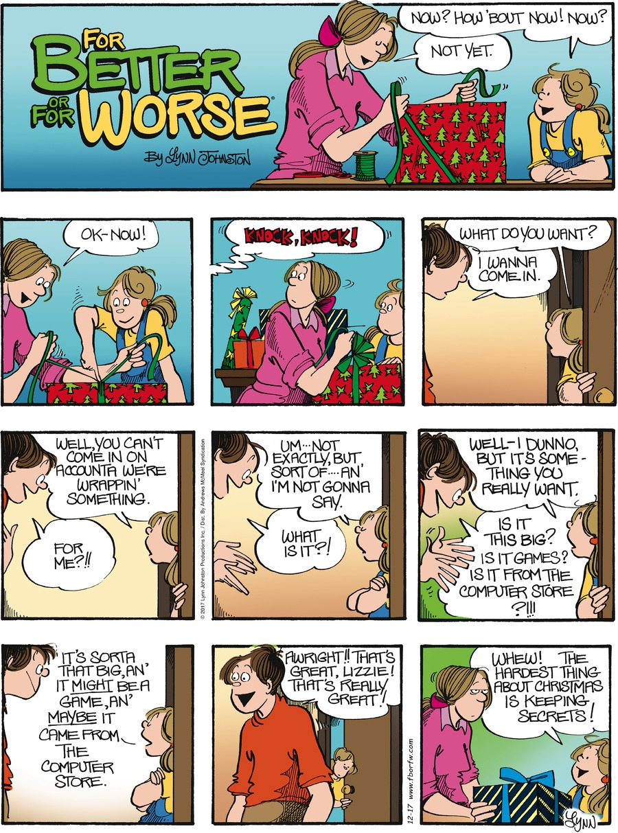 For Better or For Worse for Dec 17, 2017 Comic Strip