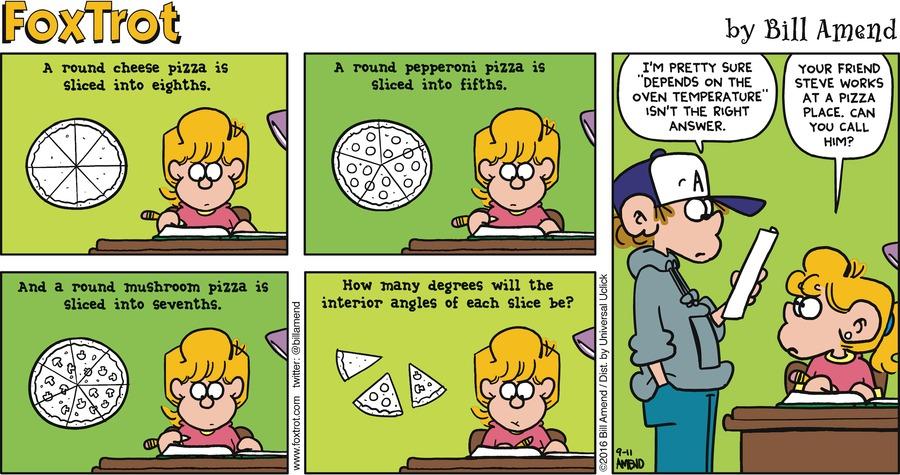 FoxTrot Comic Strip for September 11, 2016