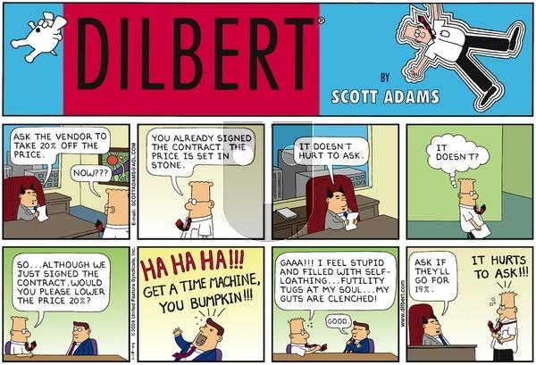 Dilbert - Sunday January 18, 2004 Comic Strip