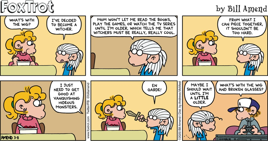 FoxTrot Comic Strip for March 08, 2020