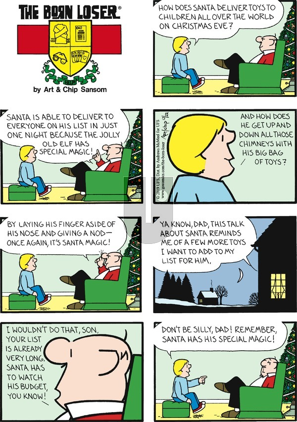 The Born Loser on Sunday December 22, 2019 Comic Strip