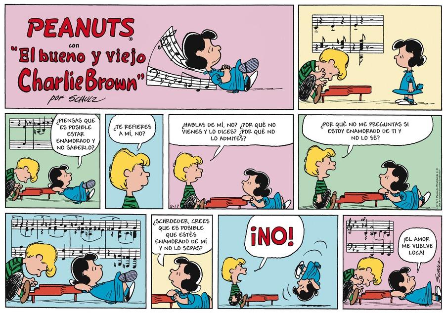 Peanuts en Español Comic Strip for February 17, 2019