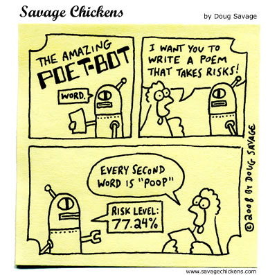 Savage Chickens Comic Strip for August 23, 2012
