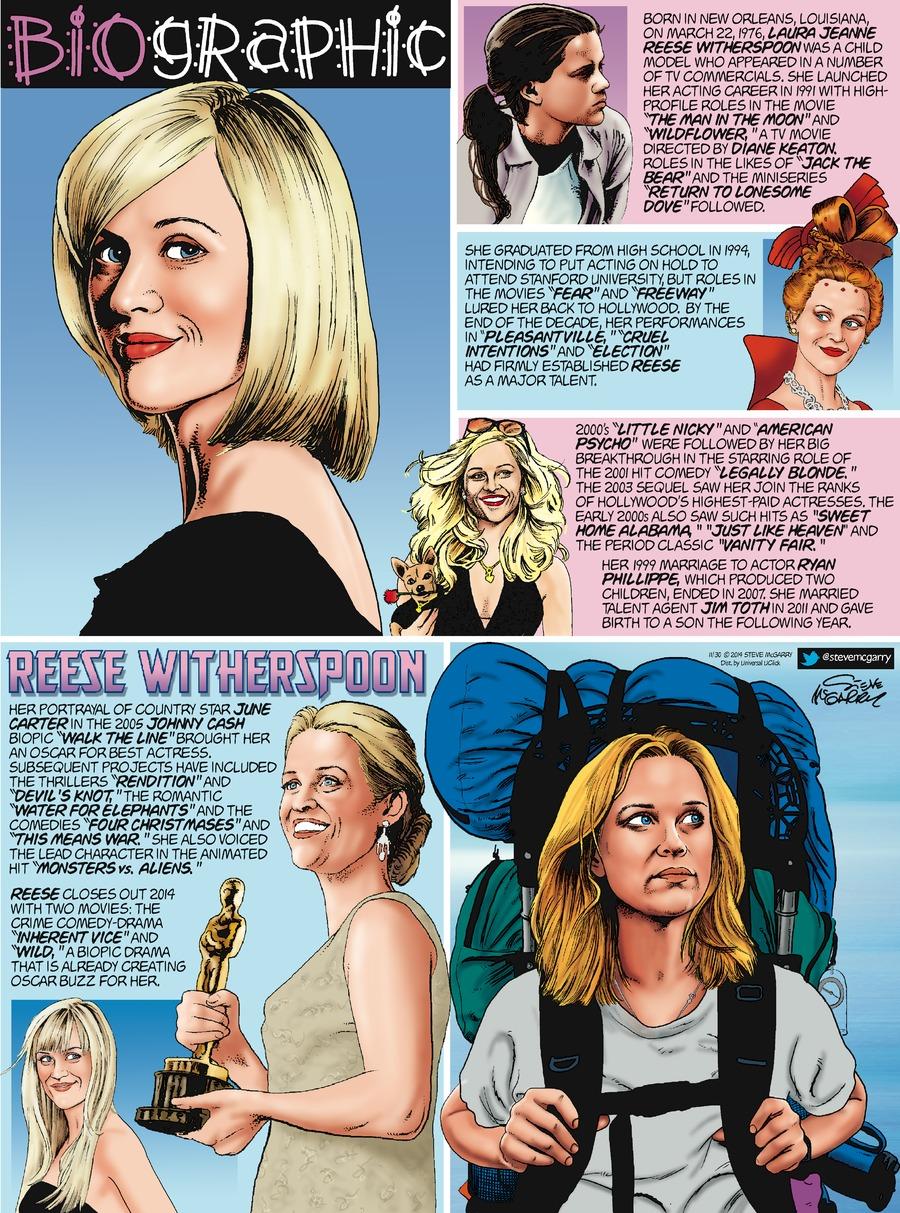 Biographic Comic Strip for November 30, 2014