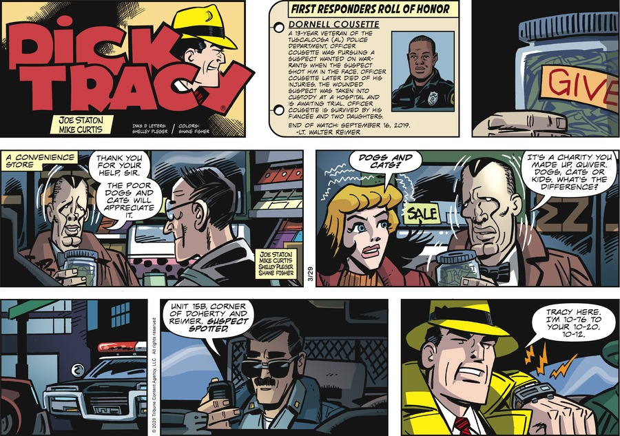 Dick Tracy Comic Strip for March 29, 2020