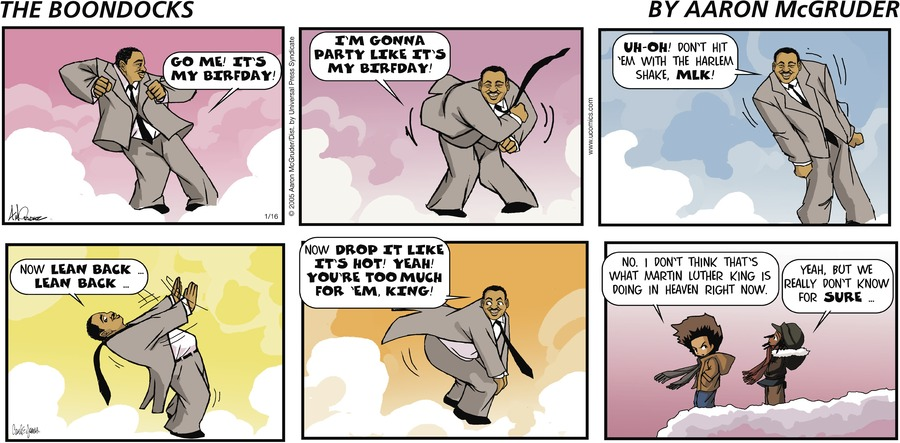 The Boondocks Comic Strip for March 29, 2020