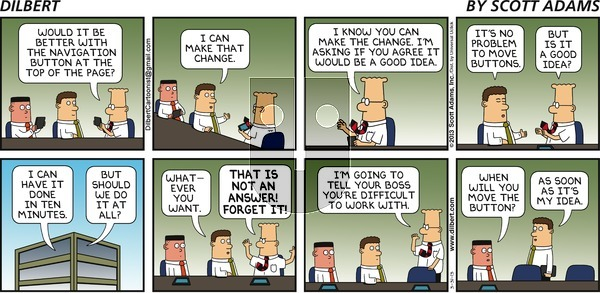 Dilbert - Sunday March 31, 2013 Comic Strip