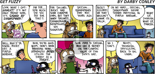 Get Fuzzy on Sunday January 9, 2011 Comic Strip