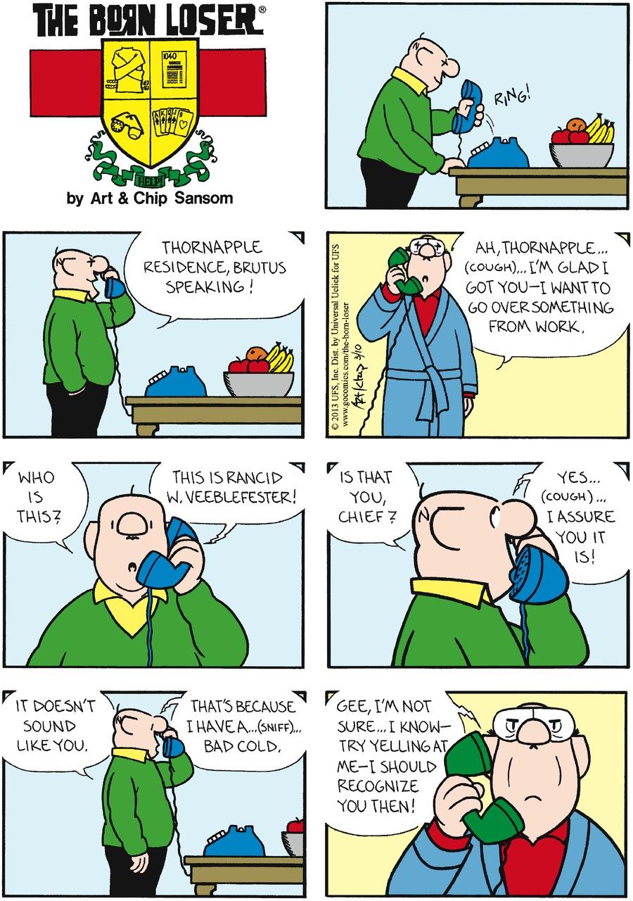 The Born Loser Comic Strip for March 10, 2013