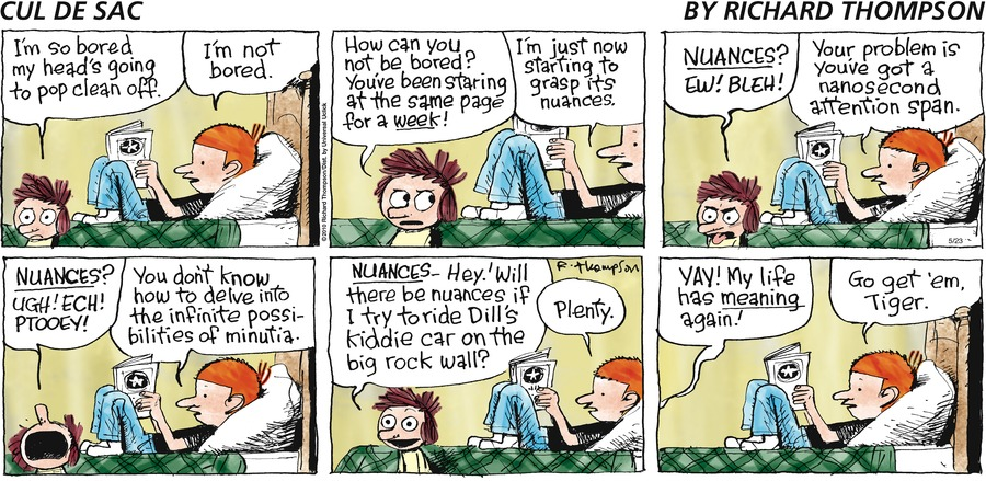 Cul de Sac Comic Strip for May 23, 2010