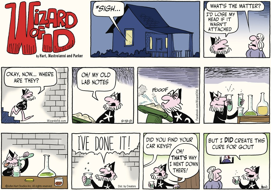 Wizard of Id Comic Strip for September 19, 2021