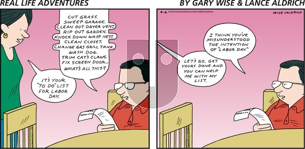 Real Life Adventures on Sunday September 2, 2018 Comic Strip