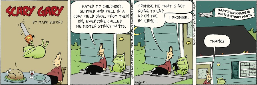 Scary Gary for Oct 2, 2016 Comic Strip