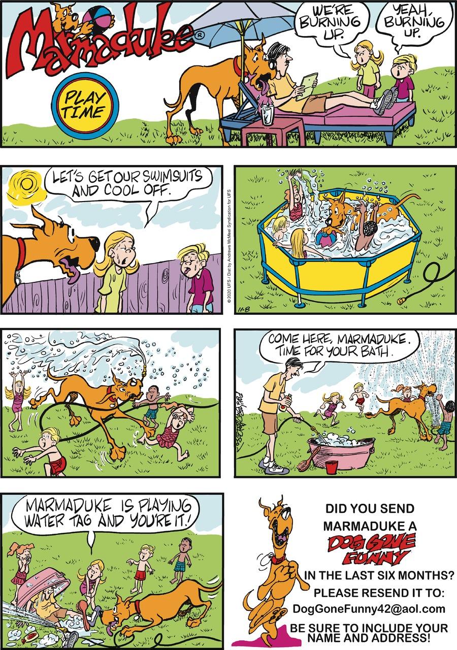 Marmaduke Comic Strip for November 08, 2020