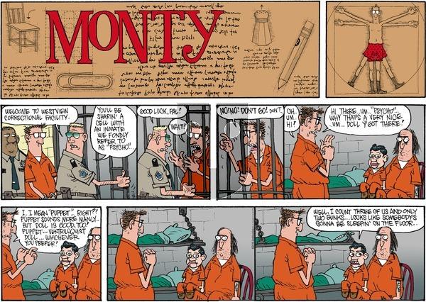 Monty on Sunday July 3, 2016 Comic Strip