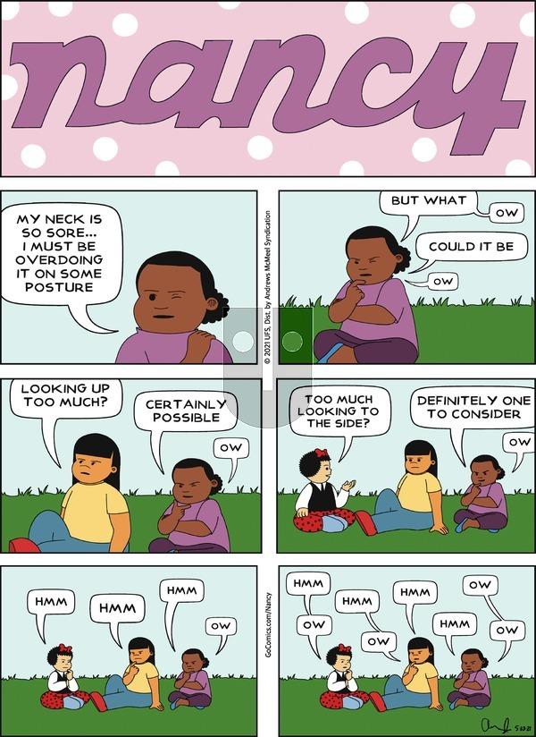 Nancy on Sunday May 23, 2021 Comic Strip