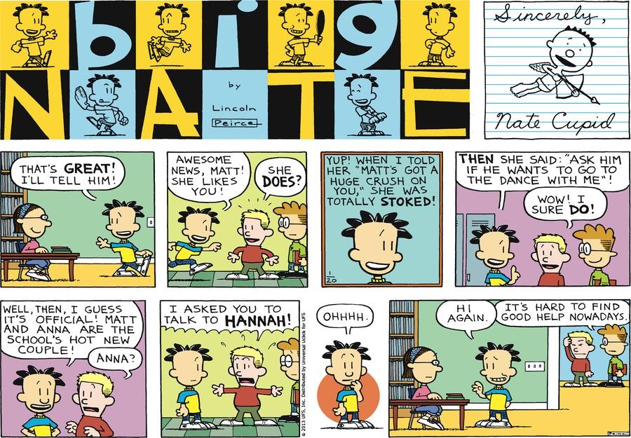 Big Nate Comic Strip for January 20, 2013