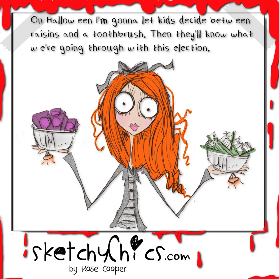 Sketchy Chics Comic Strip for October 30, 2016