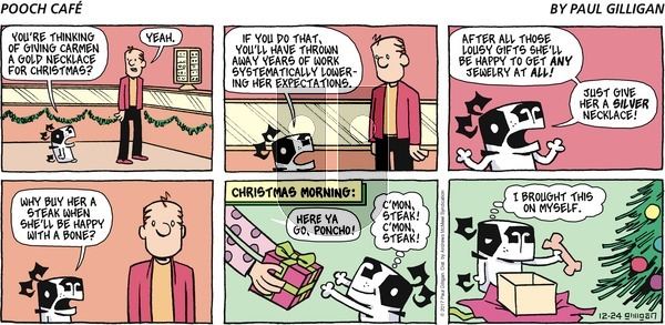 Pooch Cafe on Sunday December 24, 2017 Comic Strip