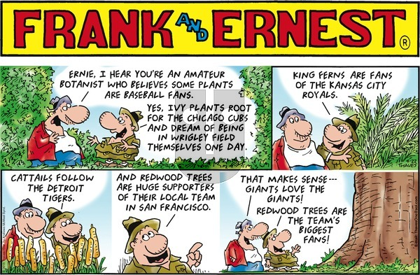 Frank and Ernest on Sunday April 22, 2018 Comic Strip