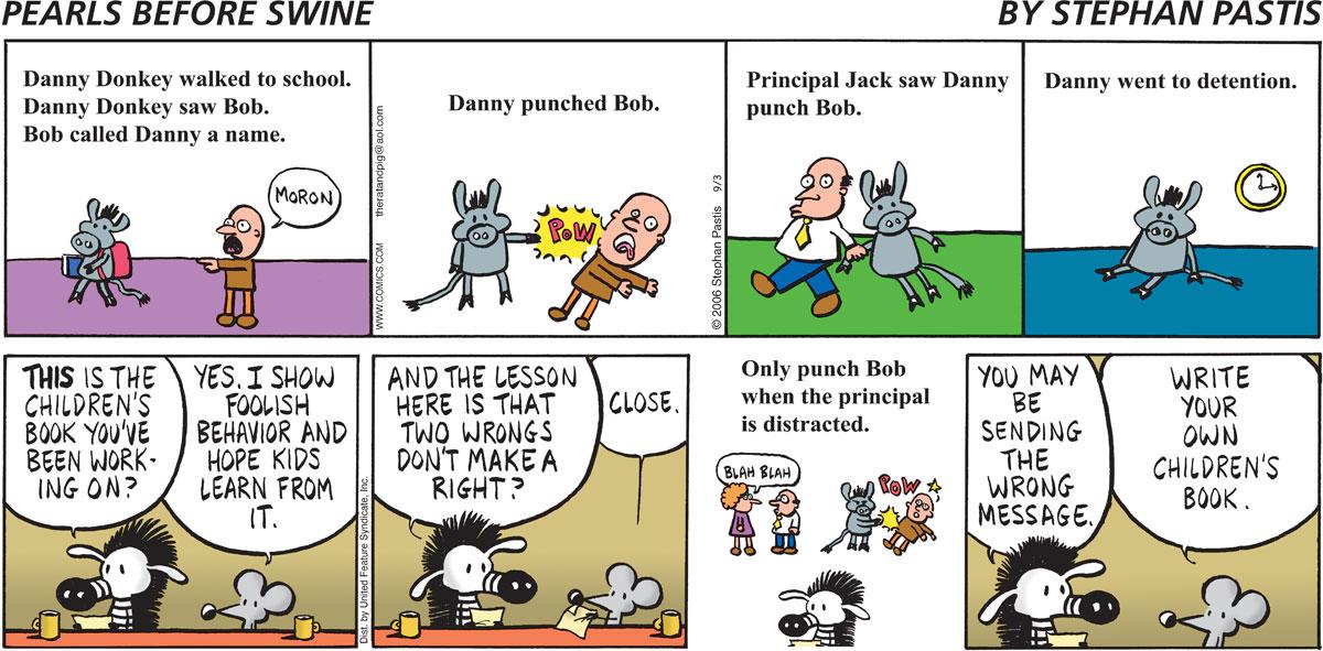 Pearls Before Swine Comic Strip for September 03, 2006