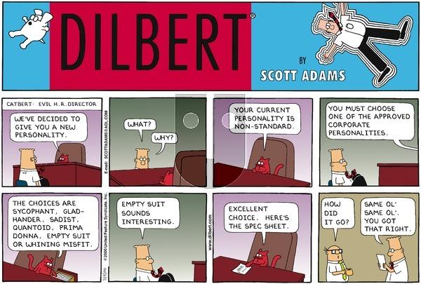 Dilbert on Sunday March 5, 2000 Comic Strip