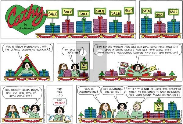 Cathy on November 25, 2007 Comic Strip