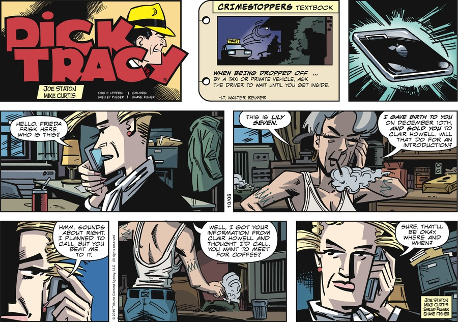 Dick Tracy Comic Strip for October 06, 2019