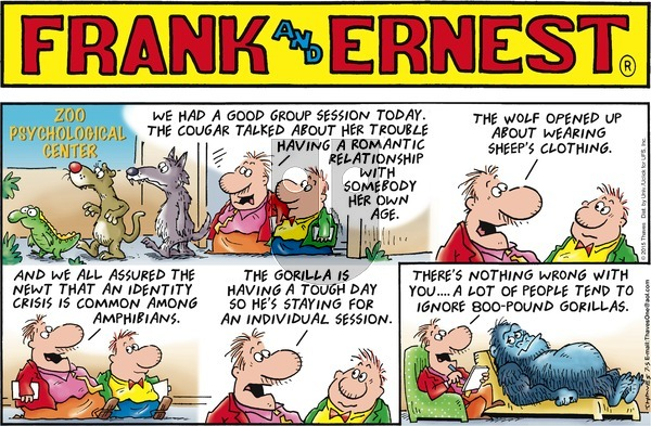 Frank and Ernest on Sunday July 5, 2015 Comic Strip
