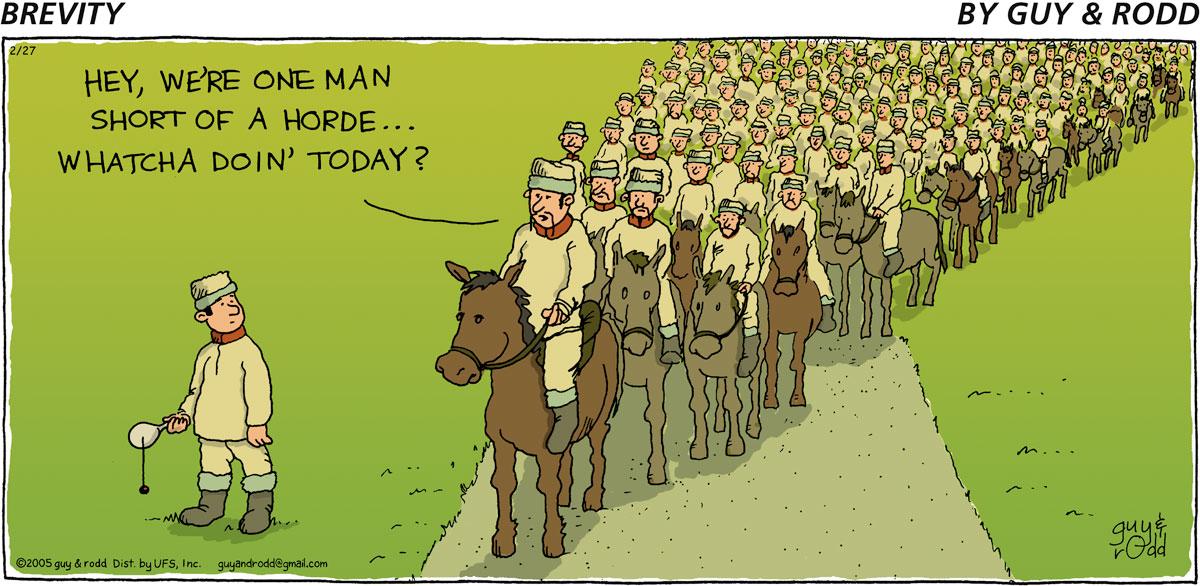 Brevity Comic Strip for February 27, 2005
